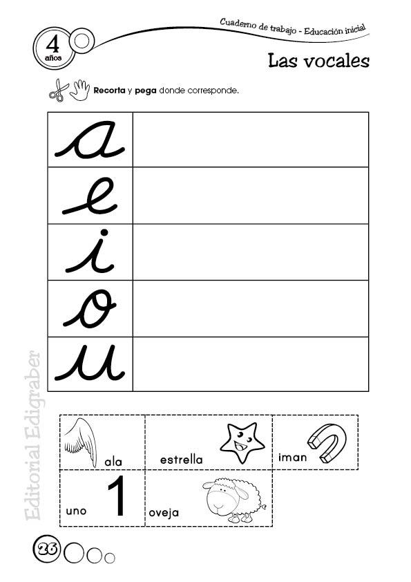 Cuadernos de trabajo 4 años | Educacion Inicial
